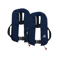2er-Set 12skipper Automatik-Rettungsweste 165N ISO mit Harness, marineblau