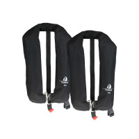 2er-Set 12skipper Automatik-Rettungsweste 165N ISO mit Harness, schwarz