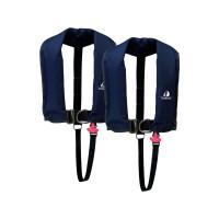 2er-Set 12skipper Automatik-Rettungsweste 300N ISO mit Harness, marineblau