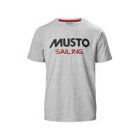 Musto Sailing Basic T-Shirt Herren hellgrau