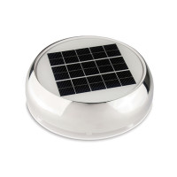 Marinco Day & Night Solarlüfter, 23m³/Stunde - Edelstahl