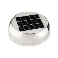 Marinco Day & Night Solarlüfter, 28m³/Stunde - Edelstahl