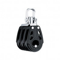 Harken 29mm Carbo Block - dreischeibig mit Wirbelschäkel