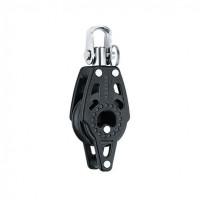 Harken 29mm Carbo Block - einscheibig mit Wirbelschäkel und Hundsfott