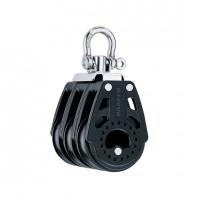 Harken 40mm Carbo Block - dreischeibig mit Wirbelschäkel