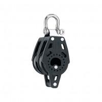 Harken 40mm Carbo Block - zweischeibig mit Schäkel, 90° bewegbar und Hundsfott