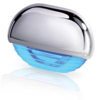 Hella Marine Serie 8560 Easy Fit Stufenleuchte LED - Gehäuse Kunststoff verchromt, Lichtfarbe blau