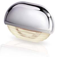 Hella Marine Serie 8560 Easy Fit Stufenleuchte LED - Gehäuse Kunststoff verchromt, Lichtfarbe warmweiß
