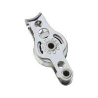 HS Sprenger Micro XS Block für Draht 4mm - einscheibig mit festem Bügel und Hundsfott