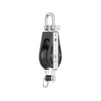 HS Sprenger S-Blockserie 10mm Block mit Nadellager - einscheibig mit Wirbelschäkel und Hundsfott