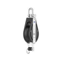 HS Sprenger S-Blockserie 12mm Block mit Nadellager - einscheibig mit Wirbelschäkel und Hundsfott