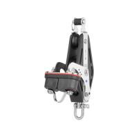 HS Sprenger S-Blockserie 12mm Großschotviolinblock mit Nadellager - einscheibig mit Wirbelschäkel, Hundsfott und Klemme