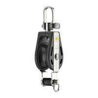 HS Sprenger S-Blockserie 8mm Block mit Gleitlager - einscheibig mit Wirbelschäkel und Hundsfott
