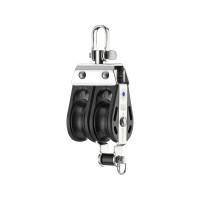 HS Sprenger S-Blockserie 8mm Block mit Nadellager - zweischeibig mit Wirbelschäkel und Hundsfott