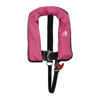 12skipper Kinder-Automatikweste 150N ISO mit Harness, pink