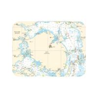 Tischset mit Seekarte - Fünen - Maße 40 x 30cm