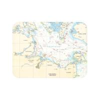 Tischset mit Seekarte - Kieler Bucht - Maße 40 x 30cm