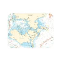 Tischset mit Seekarte - südlich Seeland - Maße 40 x 30cm