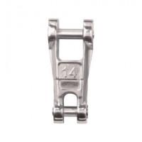 Edelstahl-Anker-Kettenverbinder mit Wirbel - Kette 6mm