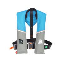 Secumar Ultra 170 Plus Automatik-Rettungsweste 165N mit Lifebelt, hellblau-grau