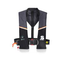 Secumar Ultra 170 Harness Automatik-Rettungsweste 165N mit Lifebelt, grau-schwarz
