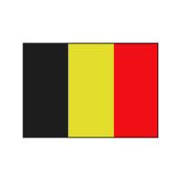 Nationalflagge Belgien - 20 x 30cm