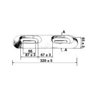 Opferanode Zink aufschraubbar - Gewicht 2,4kg, Länge 320mm