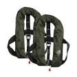 2er-Set 12skipper Automatik-Rettungsweste 165N ISO mit Harness, olive