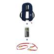 Set: 12skipper Automatik-Rettungsweste 300N ISO Harness marineblau mit Marinepool Lifeline und Wartungskit