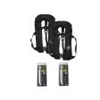 DEAL: 2er-Set 12skipper Automatik-Rettungsweste 300N ISO mit Harness, schwarz inkl. 2 Wartungskits
