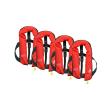 4er-Set 12skipper Rettungsweste 165N ISO mit manueller Auslösung, rot