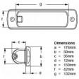 Hella Marine Serie 0670 Sea Hawk LED Deckscheinwerfer - Einbau, breitstrahlend, Gehäuse weiß