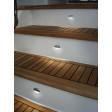 Hella Marine Serie 8560 Easy Fit Stufenleuchte LED - Gehäuse Edelstahl poliert, Lichtfarbe blau