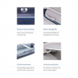 Talamex Comfortline TLX250 Schlauchboot mit Aluminiumboden, Länge 2,50m, grau