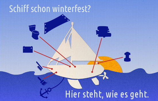 Boot winterfest machen